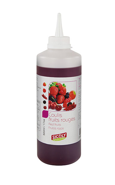 Le coulis de fruits rouges